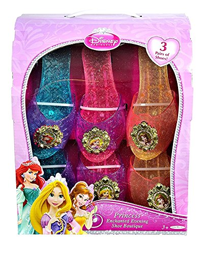 Disney Princess Disney Princess Enchanted Evening Shoe Boutique 3 Pack: Ariel, Rapunzel, Belle]()