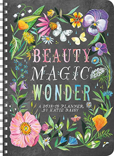 Katie Daisy 2018 - 2019 On-the-Go Weekly Planner: 17-Month Calendar with Pocket cover