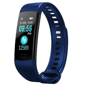 Pulsera Inteligente Fitness Tracker con Presión Sanguínea Pulsómetros Pantalla Colorida Relojes para Android iOS: Amazon.es: Deportes y aire libre