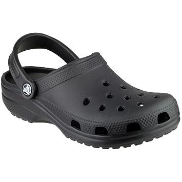 Crocs Mens Classic Unisex Croslite Breathable Strap Beach Clog Black