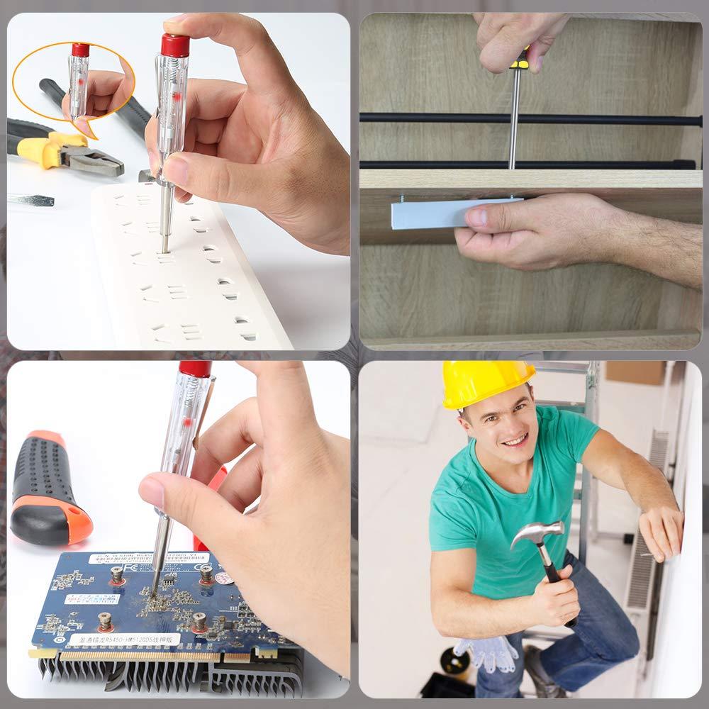 kit de herramientas de mano DIY destornillador Phillips y destornillador de punta est/ándar E/·Durable 5 pcs Kit de herramientas de reparaci/ón en el hogar con alicate combinado,cuchillo de utilidad