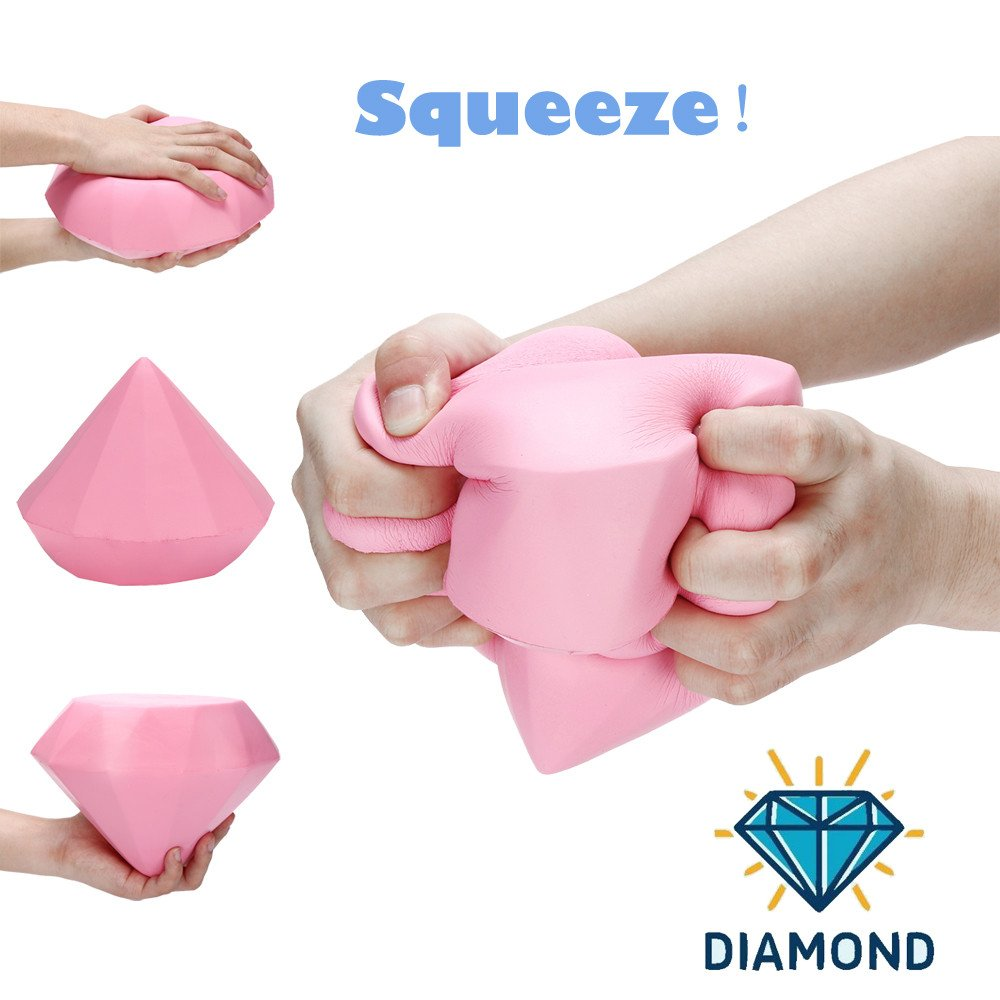 Pink Diamond Toy Scented Slow Rising Squishy Simulation Gift Kids /&Adults Decompression Squeeze Toys Kariwell Stress Reliever Toy Educational Hop Decorative Props Toys