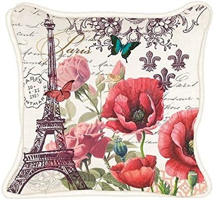 Michel Design Works Decorative Throw Pillow, 18 x 18, Toujours Paris Square