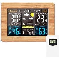 Estación meteorológica inalámbrica Reloj digital colorido del pronóstico