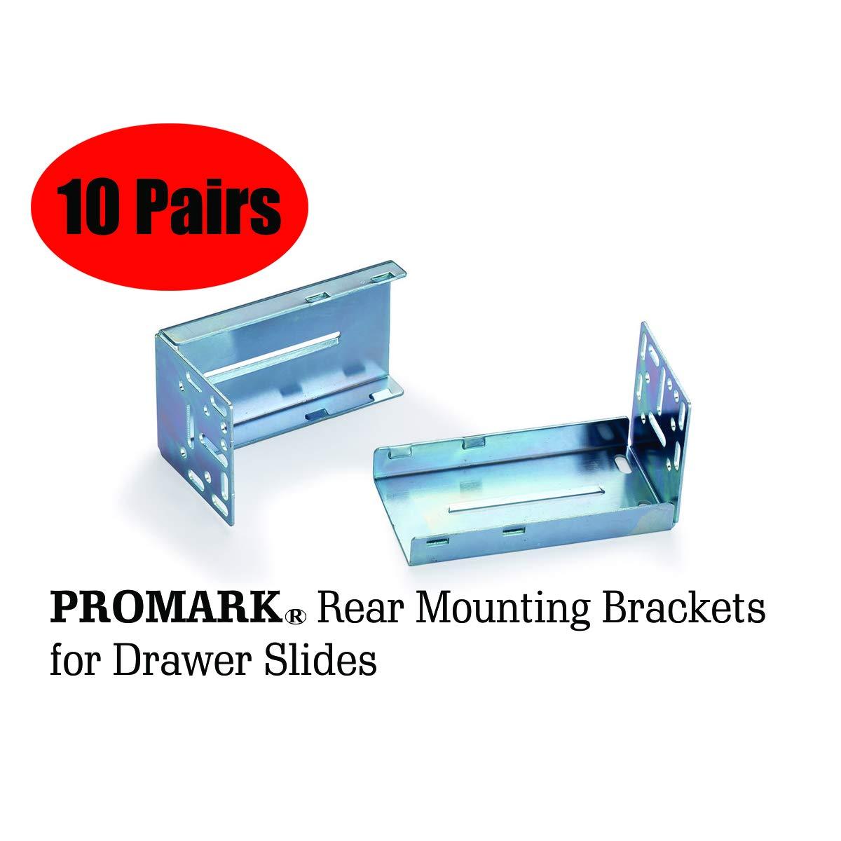10 Inches 10 Pack Promark Full Extension Drawer Slide
