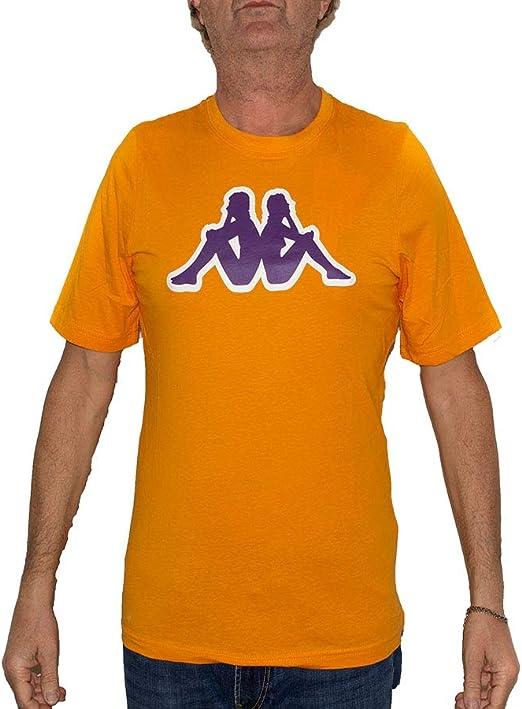 Camiseta Kappa para hombre, naranja Orange Apr.-Violet P M ...