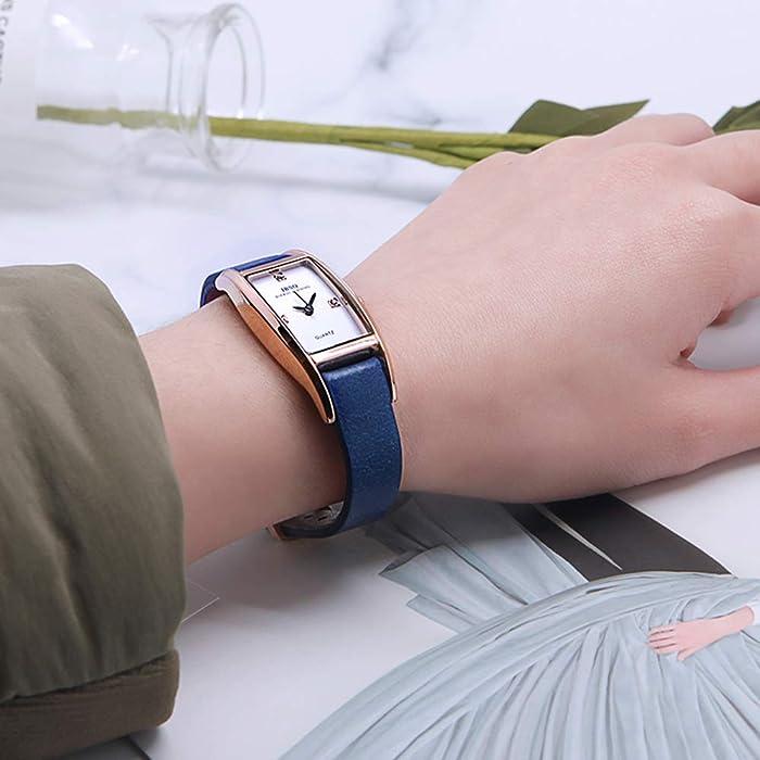 0278f5e543c93 Tayhot Women Rectangle Watch
