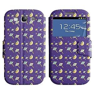 LEOCASE la luna y el pulpo Funda Carcasa Cuero Tapa Case Para Samsung Galaxy S3 I9300 No.1003269