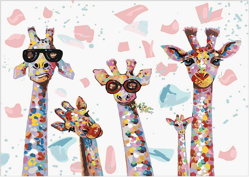 Kit de pintura de diamante 5D  jirafa (11.8 x 15.7 pulgadas)