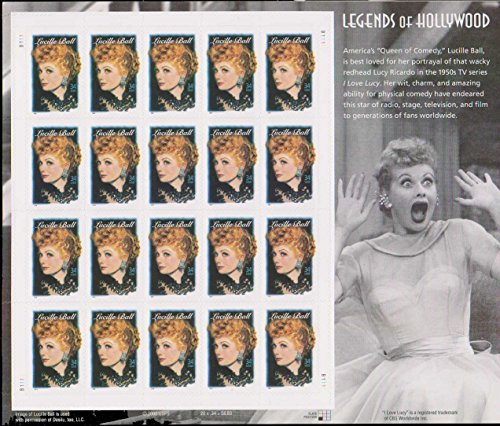 - United States Scott 3523 34c Lucille Ball Legends of Hollywood Complete Pane of 20. Mint never hinged.
