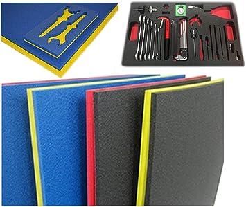 5s Caja De Herramientas 2 Colores Diseño De Sombra De Espuma 18 0 X 36 1 In Parte Superior Azul Inferior Amarilla Home Improvement
