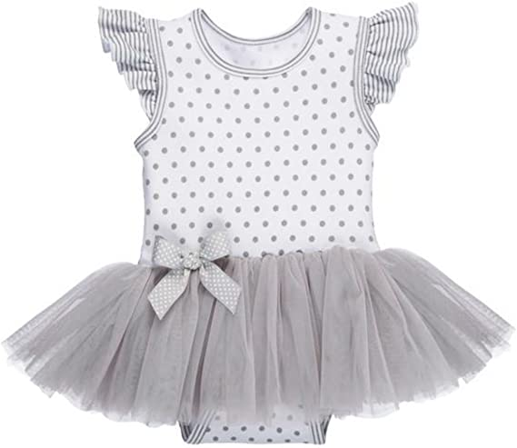 100/% Cotton Knit 0-6 Months Diaper Shirt Can be Personalized Misty Gray Baby Ganz