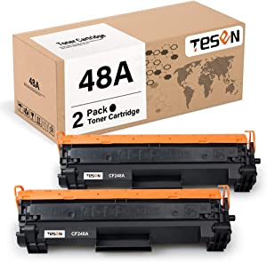 TESEN Compatible 48A Toner Cartridge Replacement for HP 48A CF248A Black Toner for use in HP Laserjet Pro M15w M15a M16w M16a MFP M29w M29a M28w M28a Printer (2 Packs, with New Chip)