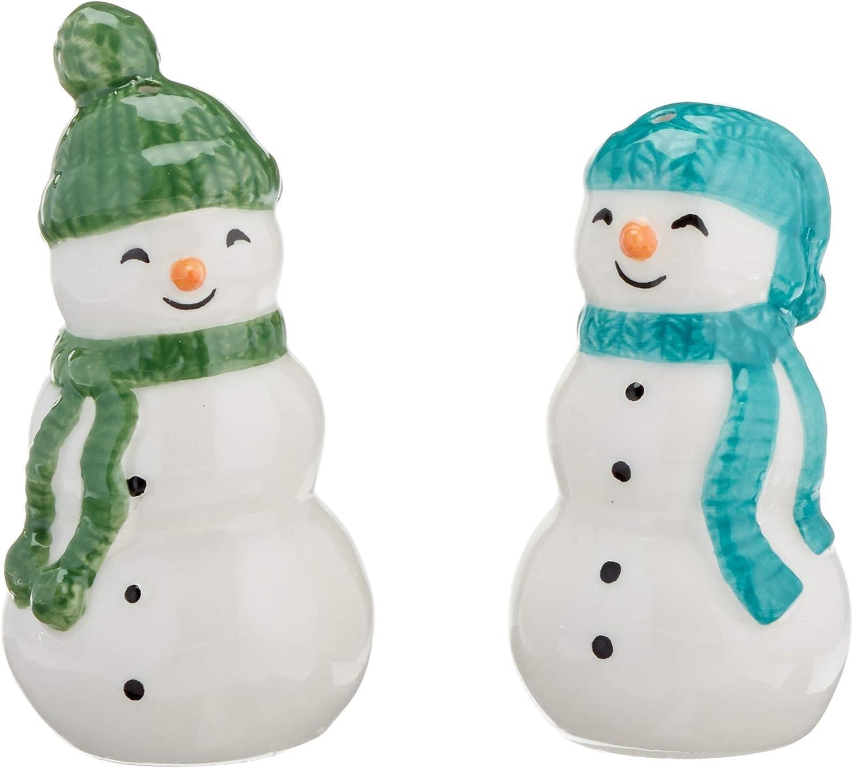 Lenox 883072 Balsam Lane 2-Piece Snowman Salt   Pepper Set