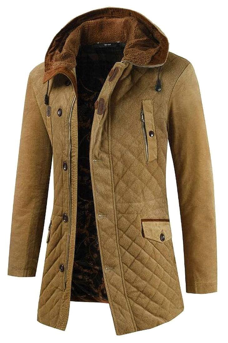 WSPLYSPJY Men Heavyweight Sherpa Lined Full Zip Up Hoodie Winter Fleece Jacket