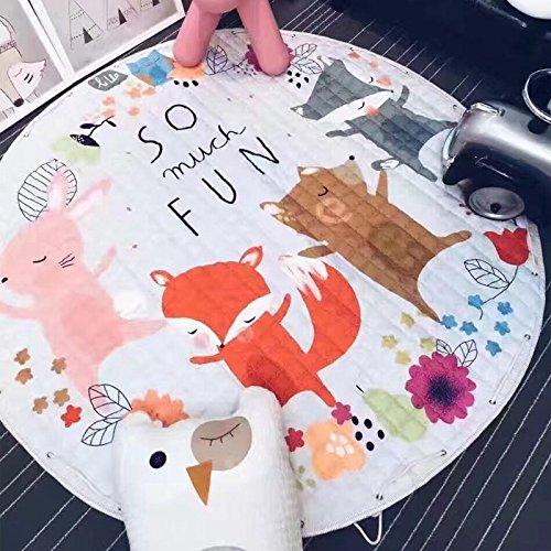 TheTickleToe Multifunction Cute Animal Pattern Play Mat Rug Kids Baby Nursery Room