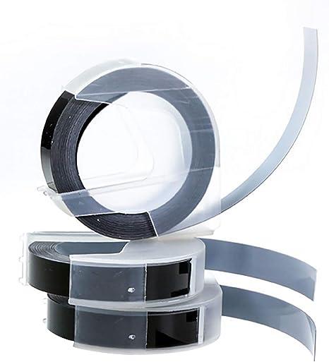 Cinta De Relieve, 3 rollos 9mm reemplazo 3D en relieve etiquetas ...