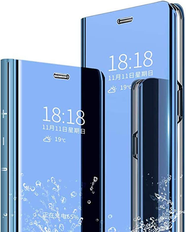 Blue Perspective Mirror Fashion Ultra-Thin Smart Flip Case TANYO Case Compatible with Motorola Moto G8 Plus