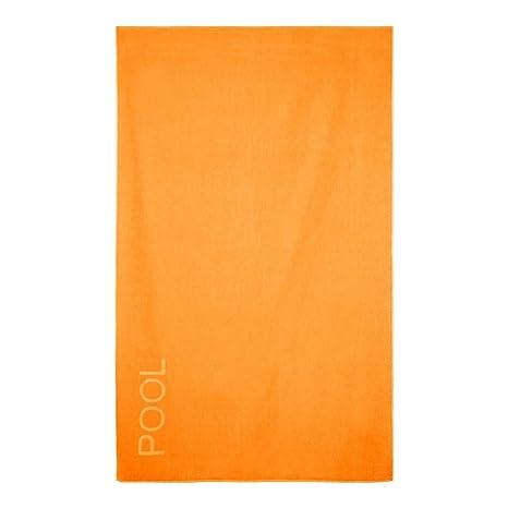 Barceló Hogar - Toalla Playa Pool Terciopelo 70x140 cm - Naranja, 70X140 cm