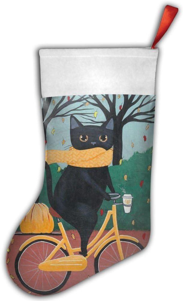 Bicicleta gatos calcetín de Navidad regalos personalizados decorar juguetes de aguja, soporte, color rojo: Amazon.es: Hogar