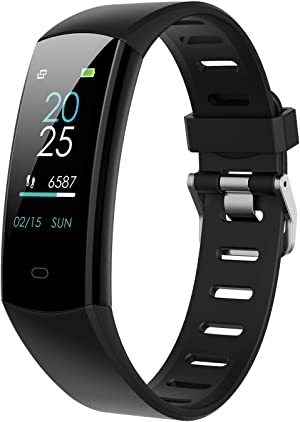 BingoFit Slim Fitness Tracker Watch, Kids Activity Tracker Heart Rate Watch, Waterproof Step Tracker Calorie Counter Sleep Monitor Digital Pedometer Watch for Kids Women Men and Gift