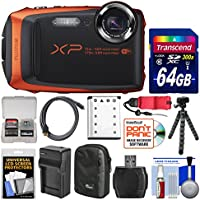 Fujifilm FinePix XP90 Shock & Waterproof Wi-Fi Digital Camera (Orange) with 64GB Card + Case + Battery & Charger + Flex Tripod + Strap + Kit Noticeable Review Image