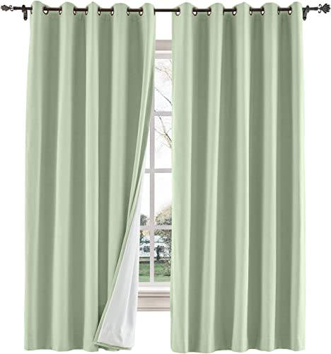 TWOPAGES 150 W x 96 L inch Grommet Curtains Blackout Curtain