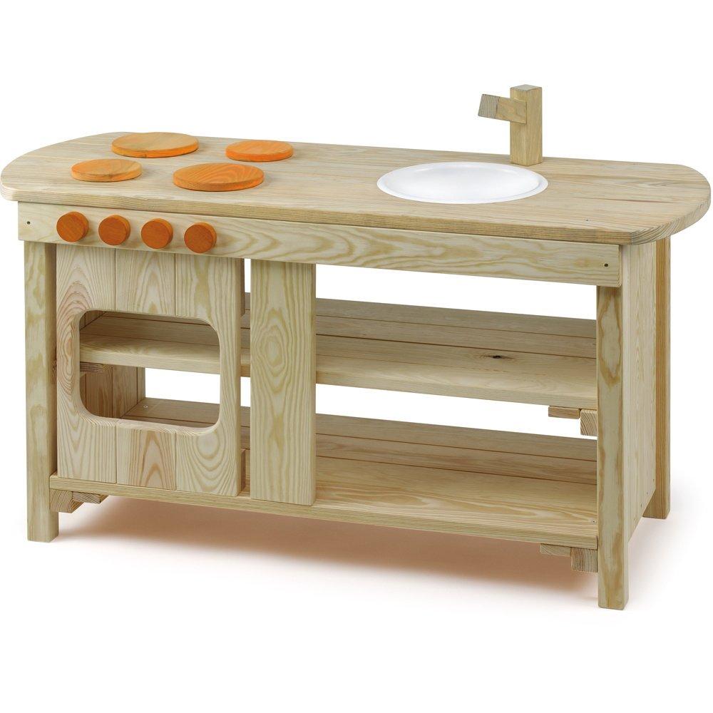 Erzi Matschküche für Draußen - Outdoor Kinderküche Holz