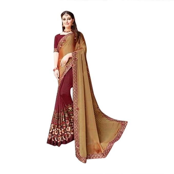 Amazon.com: Diseñador Bollywood Sari Sari para mujeres blusa ...