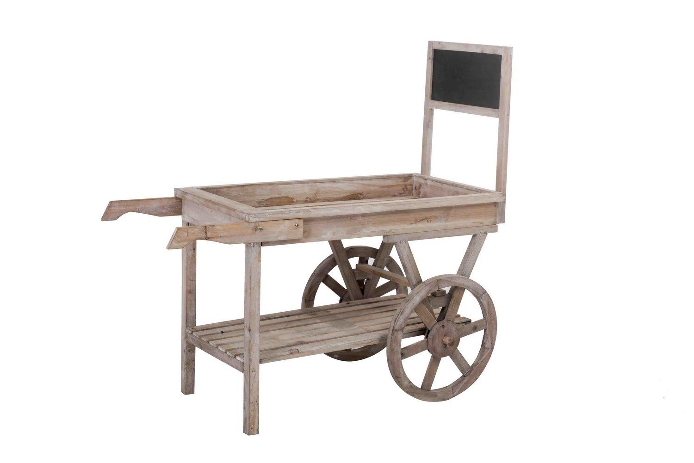 Sunjoy S-GW091PWD-A Wooden Cart, Brown