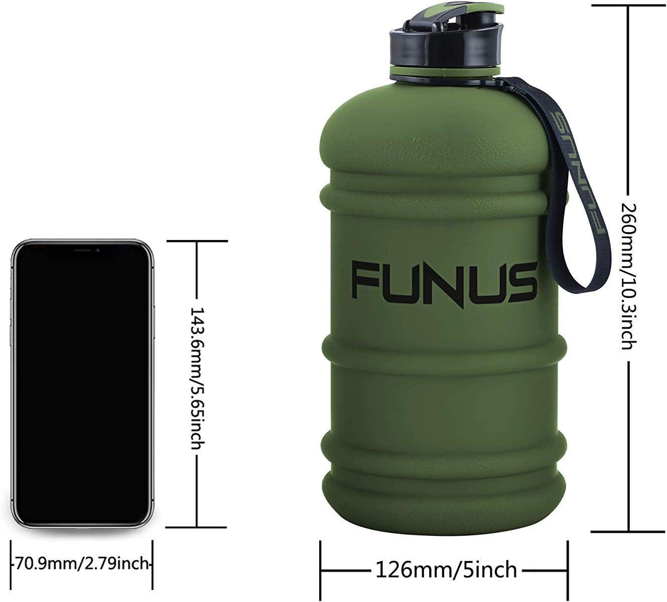 SOCOO Botella de Deportes Acu/áticos de 2,2 litros sin BPA Contenedores de Agua para Acampar Botella de Agua Port/átil para Gimnasio//Viajes//Ejercicio//Deporte