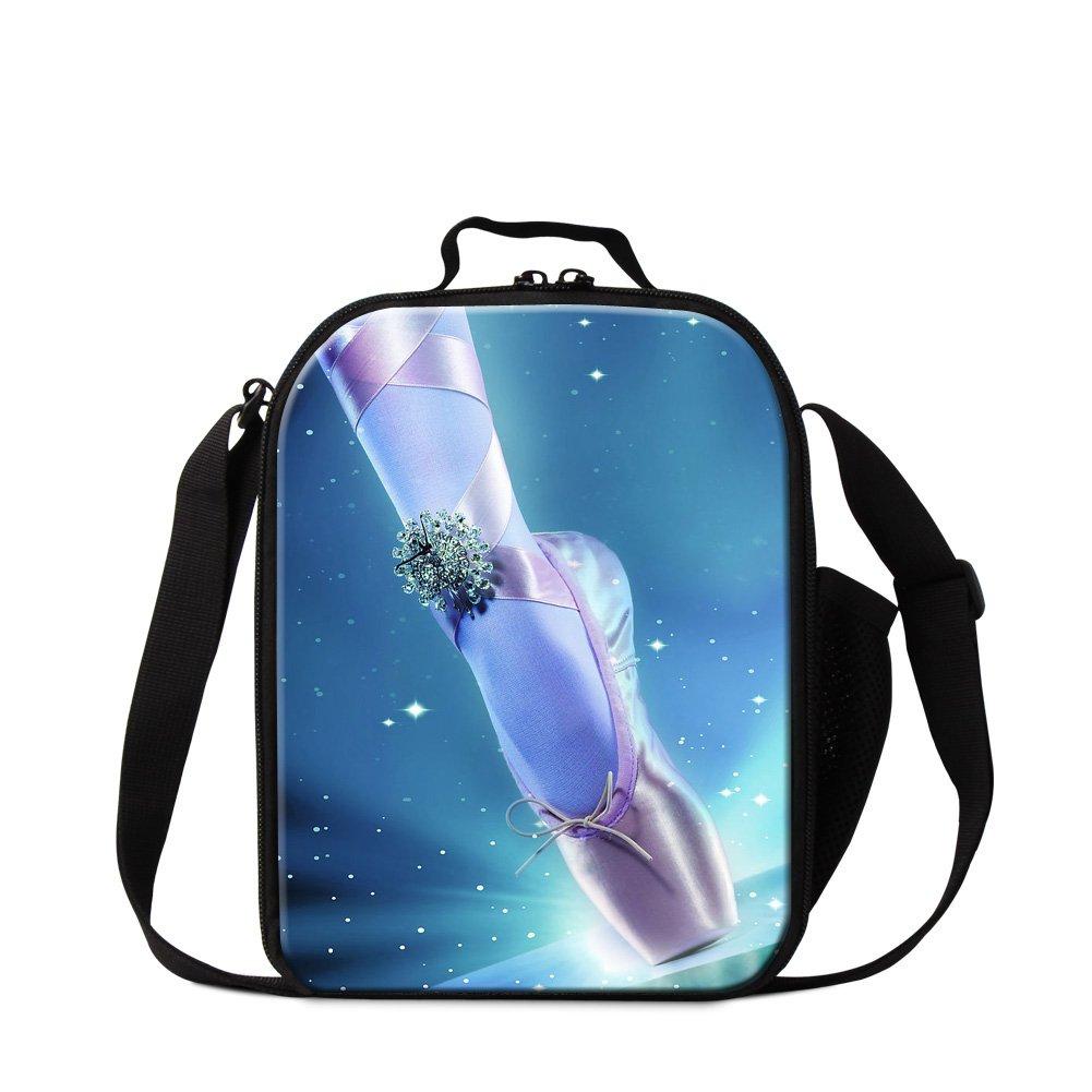 CrazyTravel Ballet Dance Print Lunch Cooler Tote bag For Girls Women