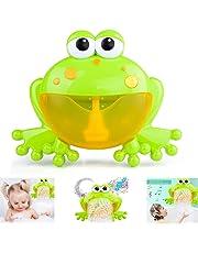 FOONEE Máquina de Burbujas de Baño para Ni&ntilde 12 Nursery Rhymes Máquina de Burbujas de Ranas para Niños- La Máquina de Burbujas para Bebés Brinda a los Niños un Momento de Baño