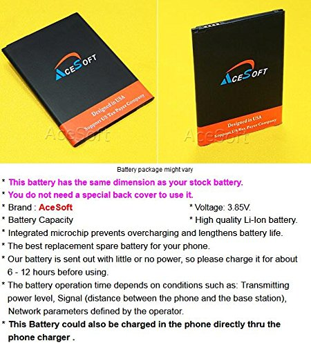 3300mAh Rechargeable Li_ion Spare Battery for LG Stylo 3 LTE L83BL Straight Talk/Tracfone/Net10 Android Phone - AceSoft