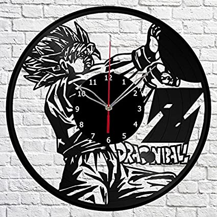 Dragon Ball Anime Manga Vinyl Record Wall Clock Fan Art Handmade Decor Original Gift Unique Decorative