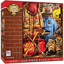 MasterPieces Hometown Heroes Fire and Rescue - Fireman's Locker 1000 Piece Jigsaw Puzzle by Dona Gelsinger