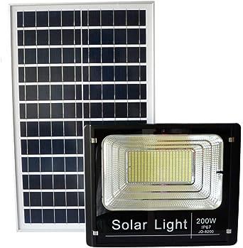 100W 200W Solar Foco Proyector LED, IP67 A Prueba de Agua de ...
