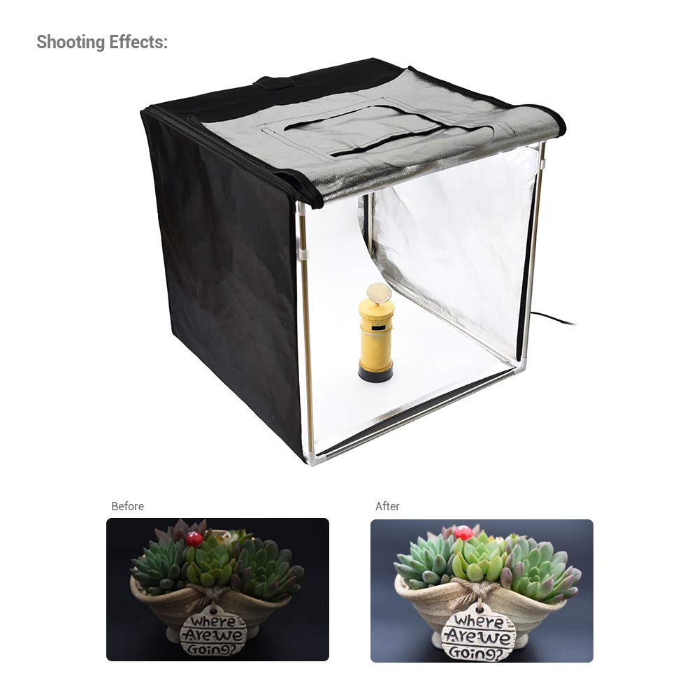 Godox LSD80 808080cm LED Mini Photography Studio Shooting Tent Softbox with 2pcs LED Light Board 5800K CRI 96+ Power 40W for Macro and Product Photography with Andoer Cleaning Cloth by Godox (Image #6)