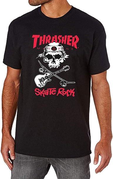THRASHER Skaterock Camiseta Unisex Adulto