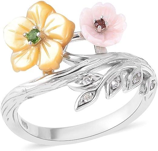 Flower Ring for Women Sterling Silver TJC