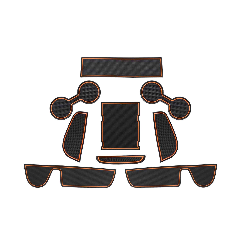 Braun RUIYA Mazda CX-30 Antirutschmatten Auto Innere T/ürschlitz Arm Box Aufbewahrung Matten Pads