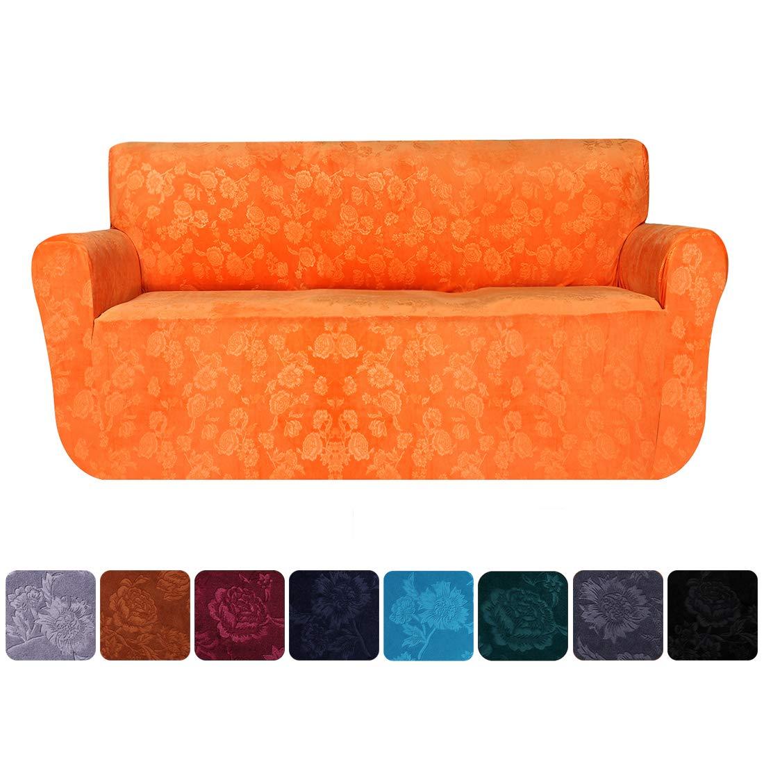 Amazon.com: smiry Funda de sofá de terciopelo elástico ...