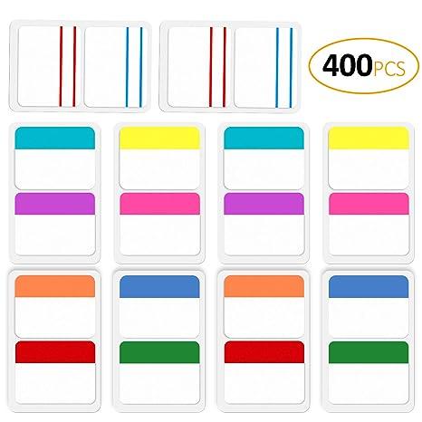 ExcelFu - Juego de 400 hojas de etiquetas de índice de 5 cm para archivadores,