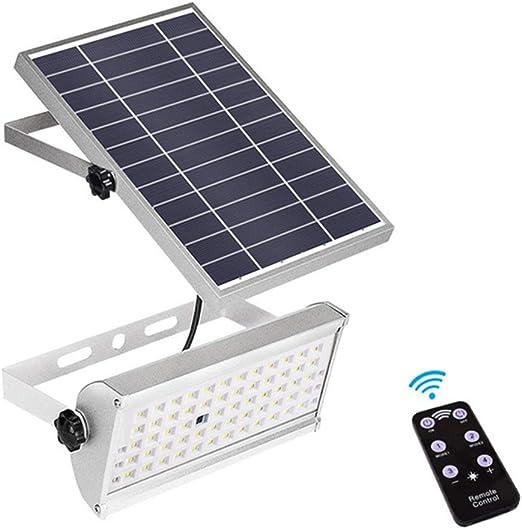 65 LED Luces Solares Super Brillante 1500Lm 12W Foco Solar Exterior Impermeable Foco Led Solar Jardín Tipo De División Con Mando A Distancia Para Patio Pasarela Valla Pared Exterior: Amazon.es: Iluminación