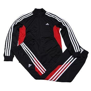 adidas tracksuit black red
