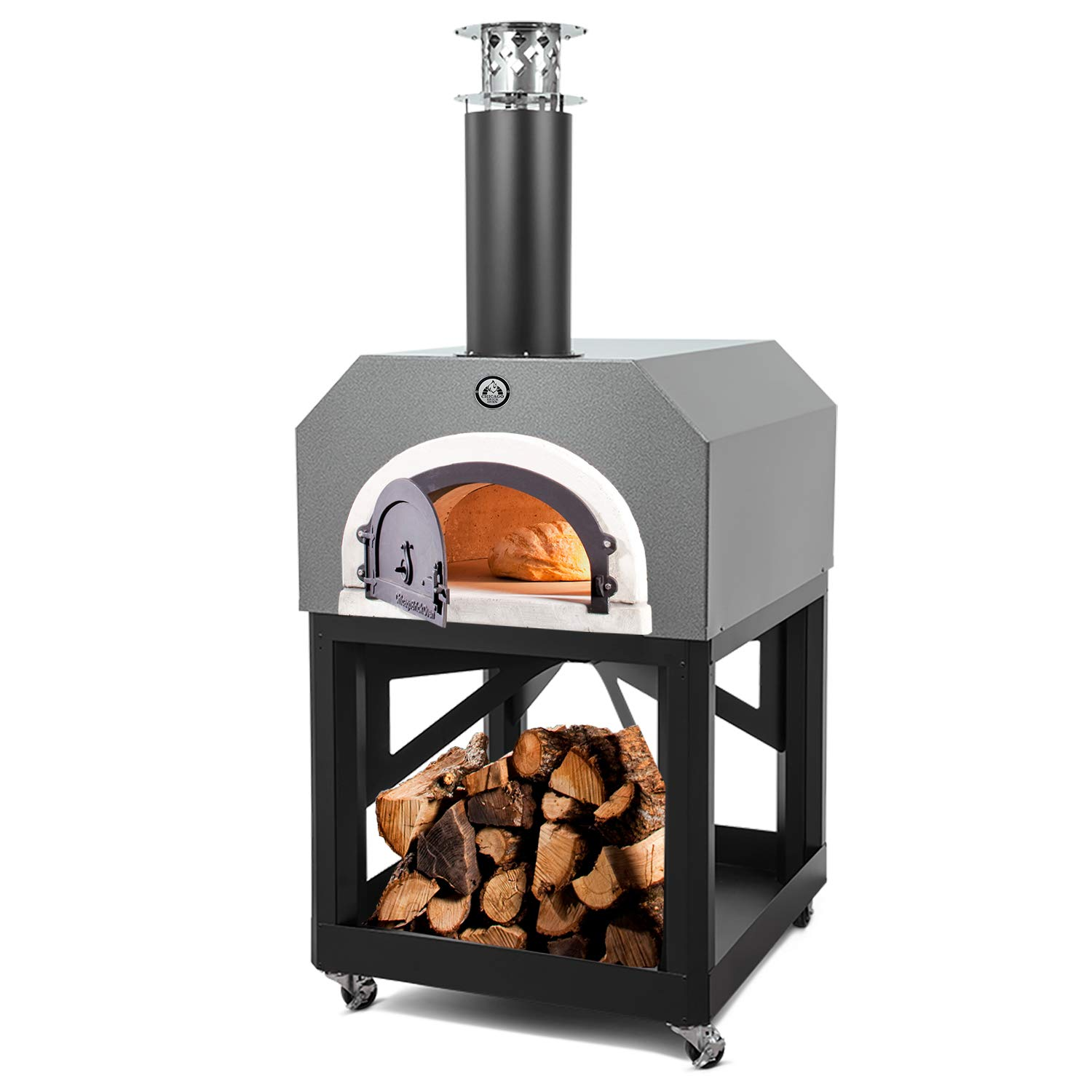 CBO-750 Mobile with Copper Vein Hood Chicago Brick Oven Wood-Burning Mobile Outdoor Pizza Oven