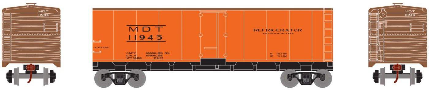 Roundhouse - HO 40' Steel Reefer, MDT #11945