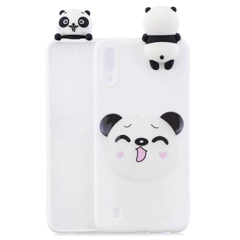 Chat HopMore Compatible pour Coque Samsung Galaxy A10 2019 Silicone Souple 3D Motif Panda Licorne Dr/ôle Etui Samsung A10 /Étui Antichoc Ultra Mince Fine Housse Protection pour Fille Femme Bleu