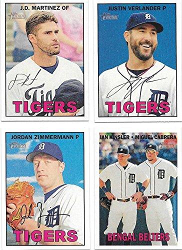 Detroit Tigers 2016 Topps Heritage Series 15 Card Basic Team Set with Justin Verlander Miguel Cabrera ()