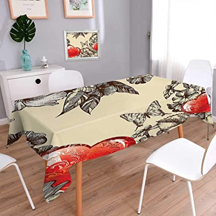 amazon com indoor outdoor polyester tablecloth pattern valentines